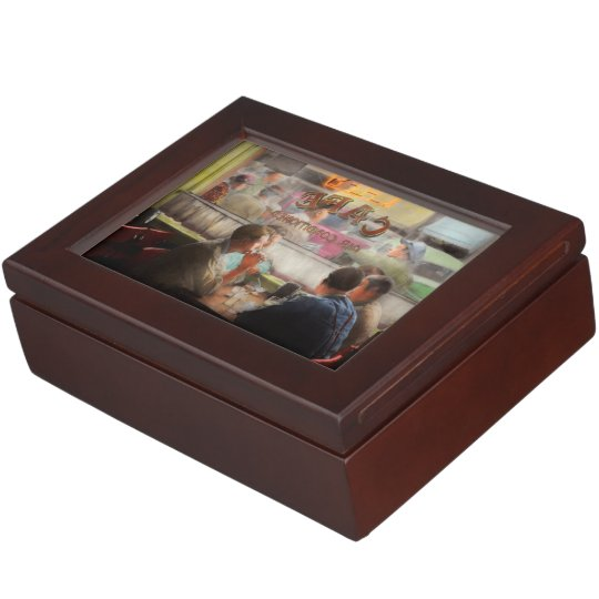 Cafe - Cold drinks with friends 1941 Keepsake Box