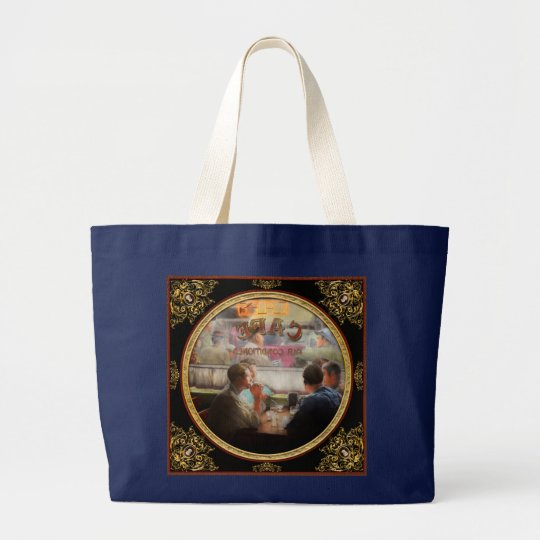 Cafe - Cold drinks with friends 1941 Large Tote Bag