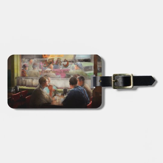 Cafe - Cold drinks with friends 1941 Luggage Tag