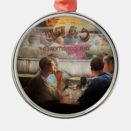 Cafe - Cold drinks with friends 1941 Metal Ornament