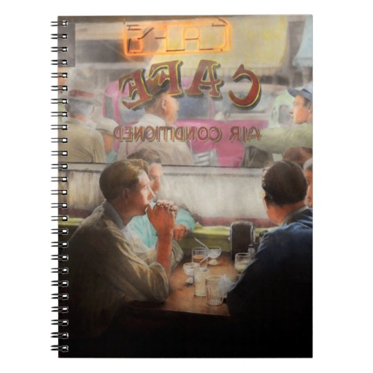 Cafe - Cold drinks with friends 1941 Notebook