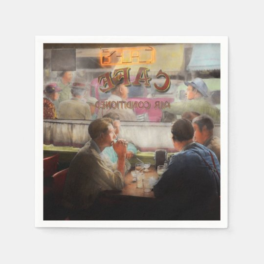 Cafe - Cold drinks with friends 1941 Paper Napkins