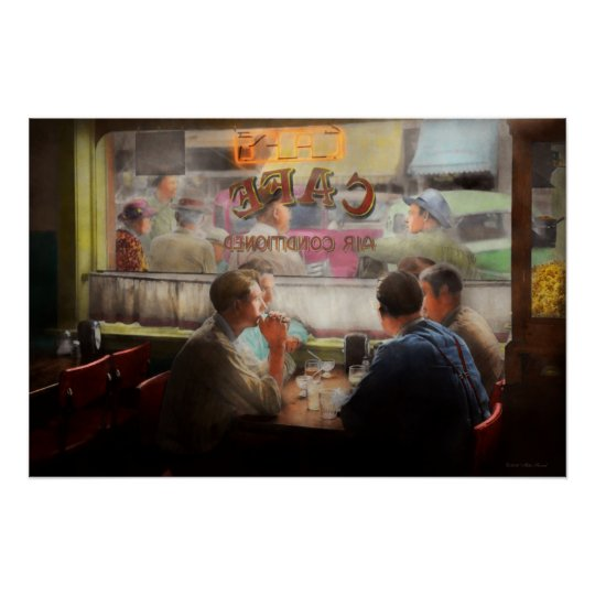 Cafe - Cold drinks with friends 1941 Poster