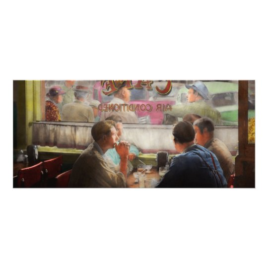Cafe - Cold drinks with friends 1941 Rack Card