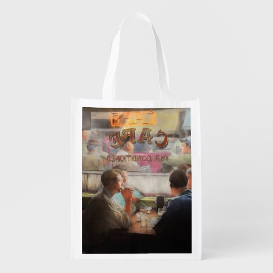 Cafe - Cold drinks with friends 1941 Reusable Grocery Bag