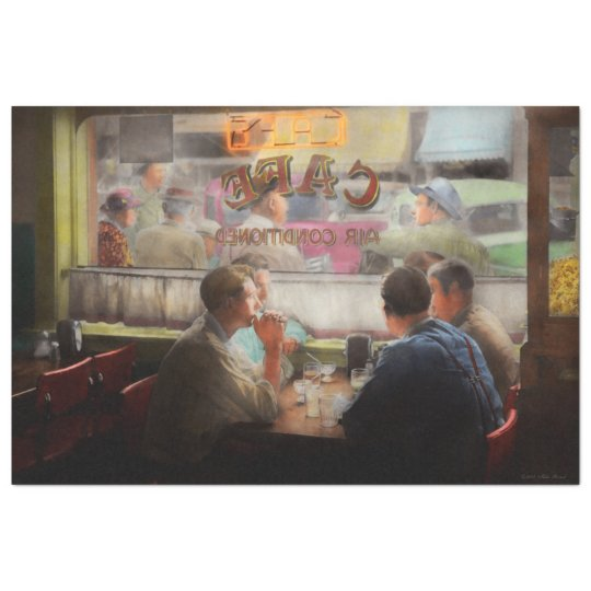 Cafe - Cold drinks with friends 1941 Tissue Paper