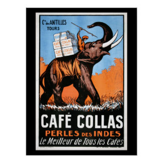 Cafe' Collas Coffee Poster