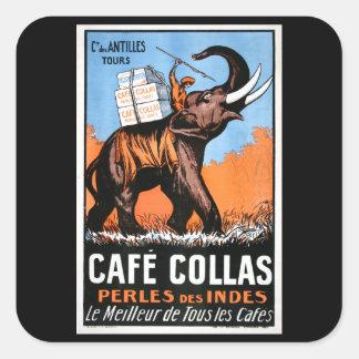 Cafe' Collas Square Sticker