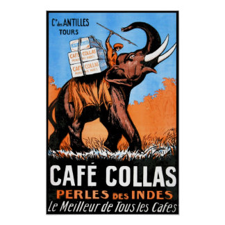 Cafe Collas Vintage Poster