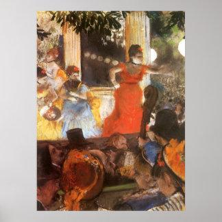Cafe Concert at Les Ambassadeurs by Edgar Degas Poster