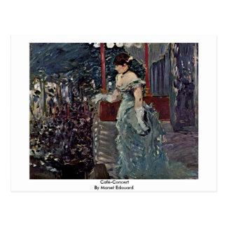 Café-Concert By Manet Edouard Postcards