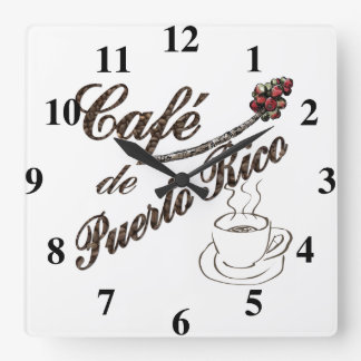 Cafe de Puerto Rico Wall Clock