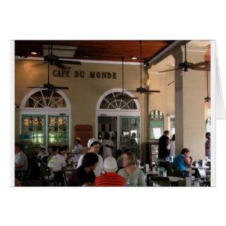Cafe du Monde in full swing Card