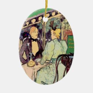 Cafe Du Monde Vintage Style Ceramic Ornament