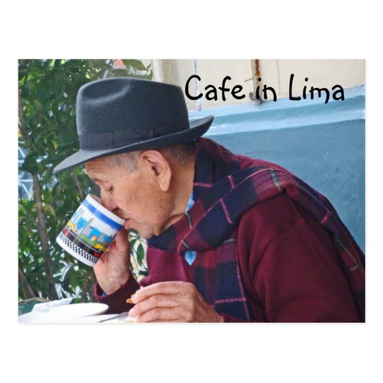 Cafe in Lima Postcard