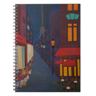 Cafe in Paris Spiral Notebook