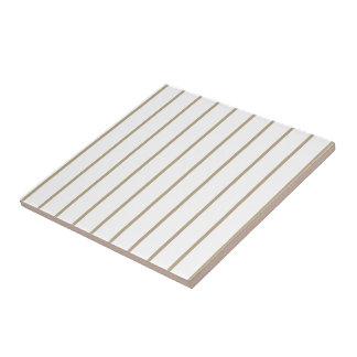 Cafe Latte Pinstripe Small Square Tile