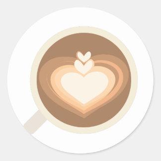 Cafe Latte Round Sticker