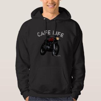 """Cafe Life"" Cafe Racer Vintage Motorcycle Hoodie"
