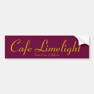 Cafe Limelight Sticker Bumper Sticker