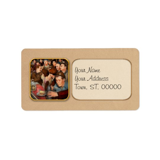 Cafe - Midnight Munchies 1943 Address Label