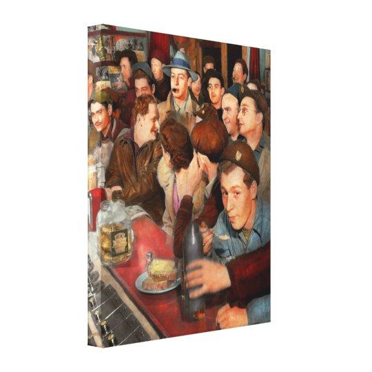 Cafe - Midnight Munchies 1943 Canvas Print