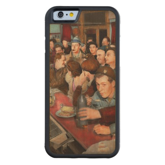 Cafe - Midnight Munchies 1943 Carved Maple iPhone 6 Bumper Case