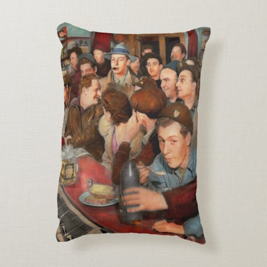 Cafe - Midnight Munchies 1943 Decorative Cushion