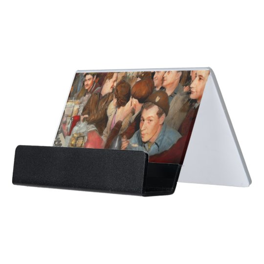 Cafe - Midnight Munchies 1943 Desk Business Card Holder