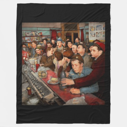 Cafe - Midnight Munchies 1943 Fleece Blanket