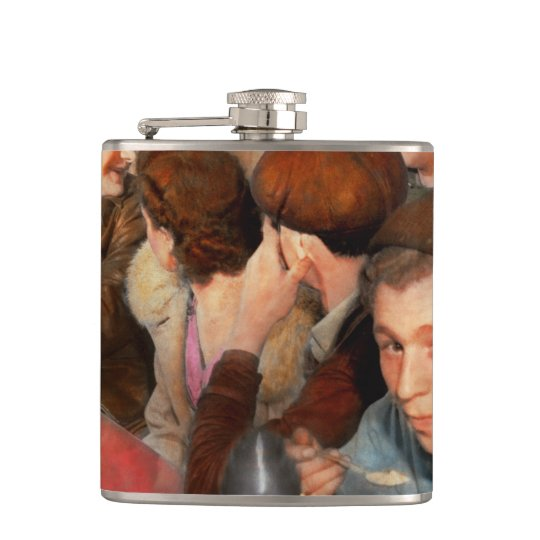 Cafe - Midnight Munchies 1943 Hip Flask