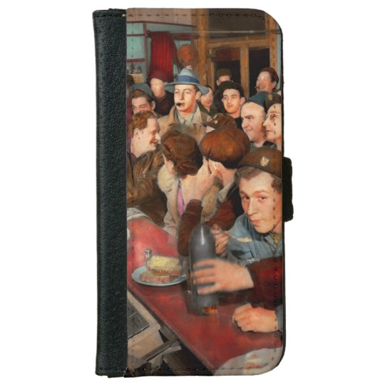 Cafe - Midnight Munchies 1943 iPhone 6 Wallet Case