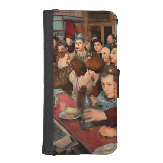 Cafe - Midnight Munchies 1943 iPhone SE/5/5s Wallet Case