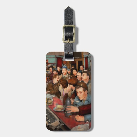 Cafe - Midnight Munchies 1943 Luggage Tag