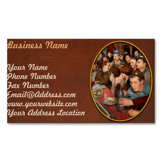 Cafe - Midnight Munchies 1943 Magnetic Business Card