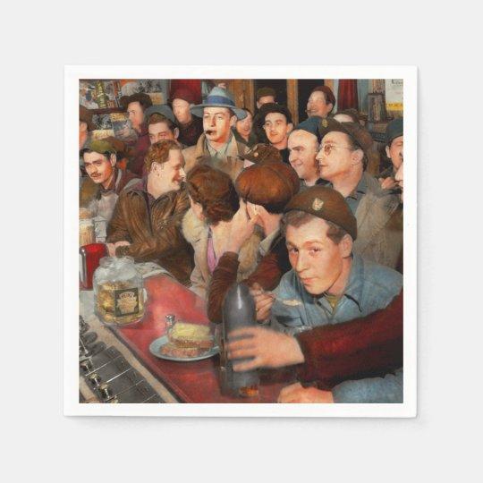 Cafe - Midnight Munchies 1943 Paper Napkin