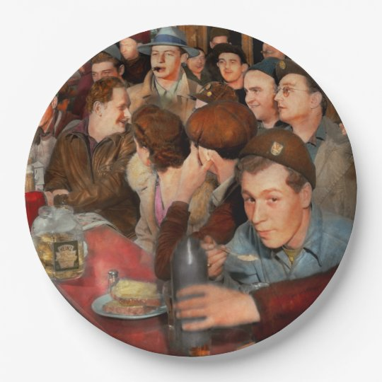 Cafe - Midnight Munchies 1943 Paper Plate