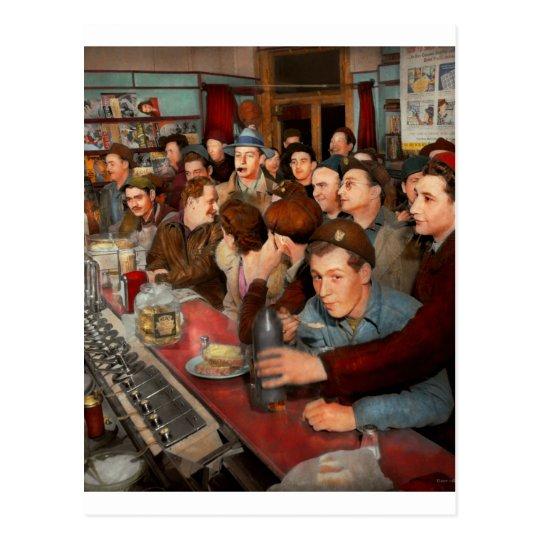 Cafe - Midnight Munchies 1943 Postcard