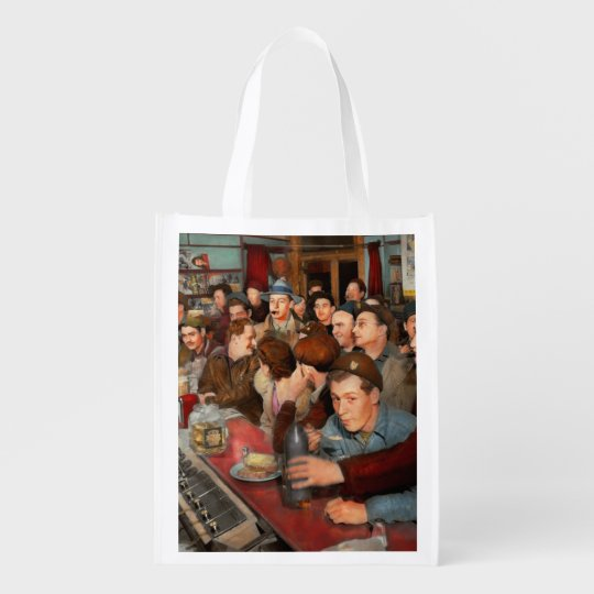 Cafe - Midnight Munchies 1943 Reusable Grocery Bag