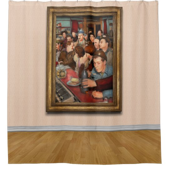 Cafe - Midnight Munchies 1943 Shower Curtain