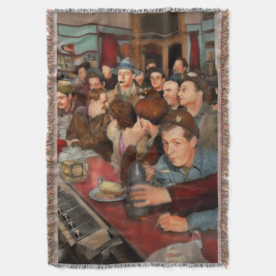 Cafe - Midnight Munchies 1943 Throw Blanket