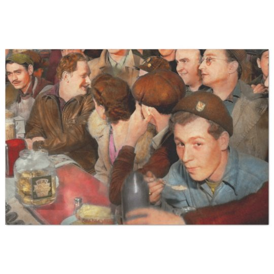 Cafe - Midnight Munchies 1943 Tissue Paper