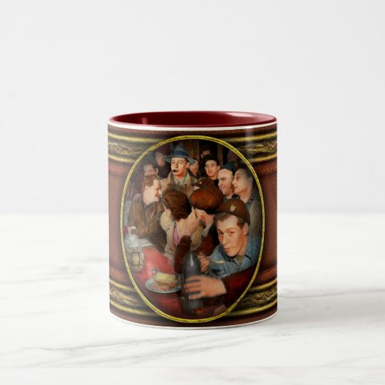 Cafe - Midnight Munchies 1943 Two-Tone Coffee Mug