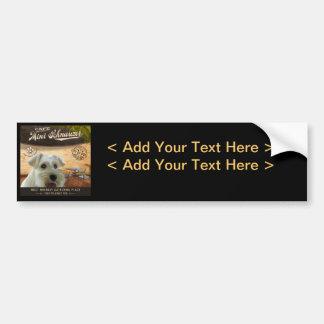 Cafe Mini Schnauzer Car Bumper Sticker