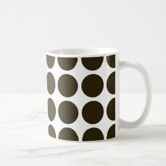Café Mocha Neutral Dots Coffee Mugs