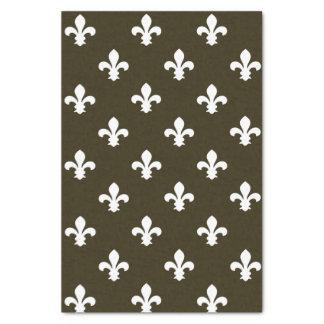 Café Mocha Neutral Fleur de Lys Tissue Paper