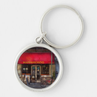 Cafe - NY - Chelsea - Mappamondo Silver-Colored Round Key Ring