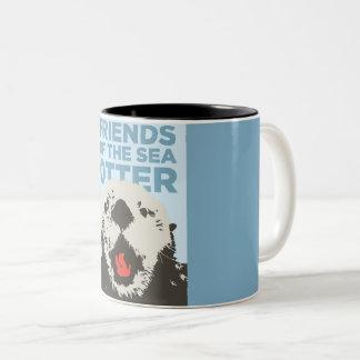 Cafe Otter Two-Tone Coffee Mug