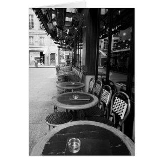 Cafe, Paris, France Card