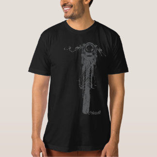 Cafe Racer Head-On Vintage Styled Motorcycle T-Shirt